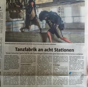 DZ 11.08.15 Tanzfabrik an acht Stationen Foto mit Text